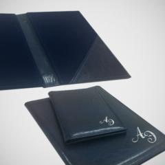 Синяя счетница с тиснением (папка-Счет)