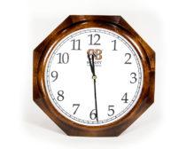 Часы в гостиницу восьмиугольные / Дерево + пластик + Картон / Цифровая печать
