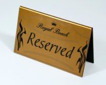 Табличка Резерв для ресторана- металлизированный пластик
