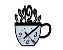 """Часы для кафе """"Чашка"""" / Оргстекло / УФ-печать"""