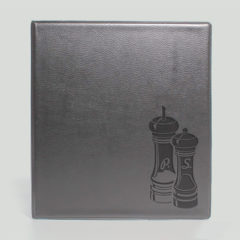 Папка меню кожзам / Блинтовое тиснение / Кольцевой механизм